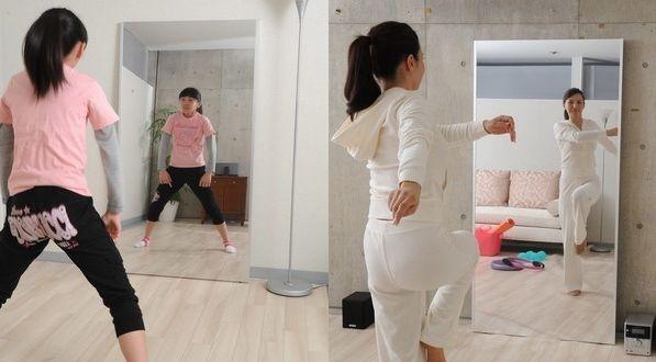 ダンスのレッスンに割れない鏡リフェクス